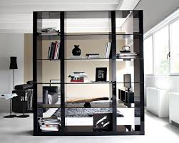 Luurious Elegant Black Wood Glass Bookcase Room Divider For Dark Dividers  Dividers
