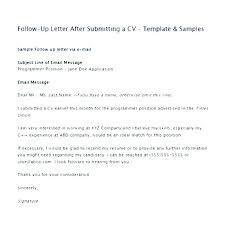 Resume Follow Up Letter Resume Follow Up Letter Job Application