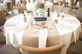 example white linen with champagne table runner on round so i sure but its not unheard