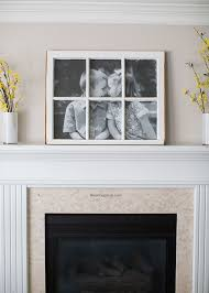 DIY Antique Window Picture Frame... great use for old windows! Cost less