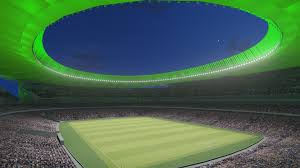 Atletico madrid finally opens its new stadium on september 16, 2017, moving to estadio wanda metropolitano from the famed estadio vicente calderon in the spanish capital. New Atletico Madrid Stadium Is First In The World To Have Led Pitch Facade And Hospitality Lighting From Philips Lighting Newsroom Philips Ligthing