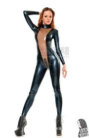 Girls in latex bodysuits