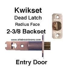 kwikset door lock parts. Kwikset Deadlatch, 2-3/8 Radius Face, Entry Door - 26D Lock Parts