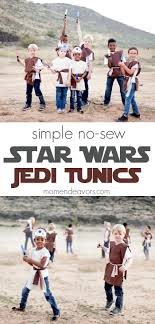 simple no sew star wars jedi tunics