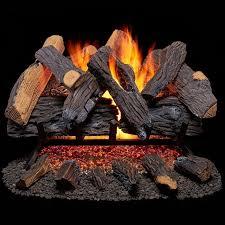 duluth forge vented natural gas fireplace log set 30 in 65 000 btu heartland oak