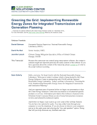 Greening the Grid: Implementing Renewable Energy Zones for Integrated  Transmission and Generation Planning