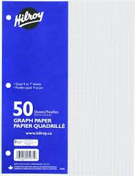 Hilroy Refill Graph Paper Quad Ruled 10 7 8 X 8 3 8 Inch
