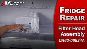 samsung fridge water filter. Samsung RF263TEAESR Refrigerator \u2013 Leaking Water Filter Head Assembly | Appliance Video Fridge