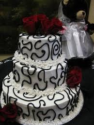 Black And White Wedding Cake Red Roses Wedding Cakes Juxtapost