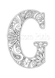 letter n coloring pages free g page sheets colouring adul