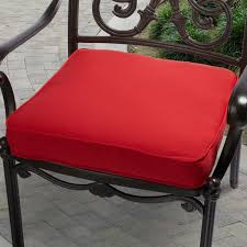 Indoor Outdoor 20 inch Solid Traditional Chair Cushion with