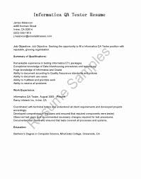 Qa Sample Resume Unique Sample Resume For Quality Assurance Manager