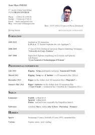 English Curriculum Vitae Curriculum Vitae English Example Pdf Resume Malawi Research