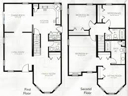 most inspiring lovely free 2 story 4 bedroom house plans house plan 4 bedroom 2