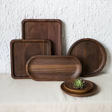Decorative Platters And Trays Kitchen Tableware Wooden Pallet Serving Tray Decorative Trays 8
