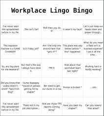 Office Bingo Office Lingo Bingo The Gentlemans Guide To Everything