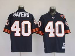 Ness Blue Gale Bears Bear With Sayers Big Number Throwback Stitched Nfl amp; 40 Mitchell Patch Jersey
