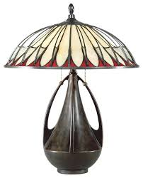 arts and crafts mission quoizel alhambra tiffany table lamp