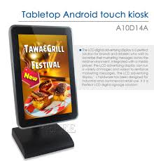 Restaurant Table Top Display Stands Refee Android System 100inch Tabletop Displaydesk stand table 86