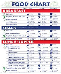 10 Food Chart Templates Sample Examples Free Premium