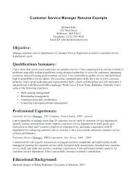 Customer Service Resume Objectives Resume Letter Collection