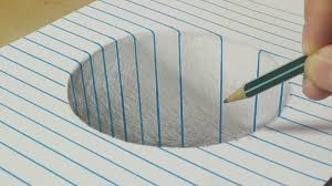 drawing a round hole trick art with graphite pencil by vamos drawing 3d art