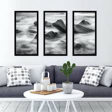 framed wall art set of 3 ocean on the rocks umbra mapster