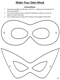 Design Own Superhero Costume Download This Template To Design Your Own Superhero Mask