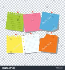 Bright Square Colored Sheets Paper Notice Stock Vector 780758659