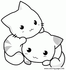 Cute Coloring Pages Of Baby Chubby Cat Clipart Clipground