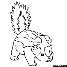 Small Picture Baby Skunk Coloring Page