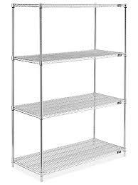 amazing wire shelving unit chrome 48 x 24 72 h 2946 uline ikea lowe for closet