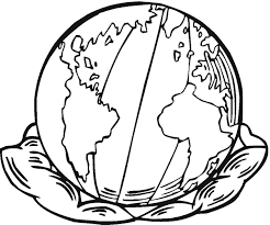 picture of the earth to color