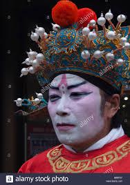 chinese man wearing traditional garmentake up spring festival paris france europe
