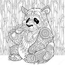 Kleurplaat Panda En Bamboe Panda Und Baby Ausmalbild Malvorlage