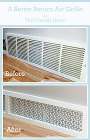 Decorative Return Air Vent Cover The Friendly Home A Better Looking Return Air Grille What A Good