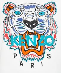 KENZO Tiger Sweatshirt in White - Lyst