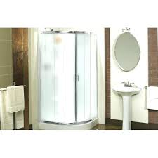 round corner shower curtain rod track style enclosure kit equinox iris ii reviews home depot doors