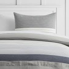 harbor stripe duvet cover sham