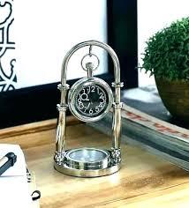 cool office clocks. Unique Desk Clock Digital Table Clocks Silver Brass Cool Office