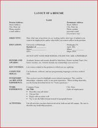 Resume Sample Layout Best Of Resume Layout Resume Cv – Davecarter.me