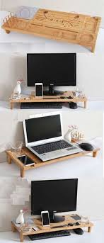computer desk organizer ideas.  Computer Wood Monitor IMac Stand Stationery Office Desk Organizer Pen Pencil Holder  IPad Cell Phone Charging Station Dock Business Card Display  Throughout Computer Ideas S