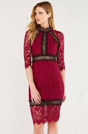 Lace Dress Burgundy Winter Dress Fall Dress