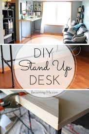 minimalist standing desk office furniture discover detailed plans for a diy a standup desk made with plumbing pipe and wood