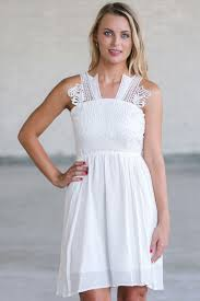 white summer dress cute sundress
