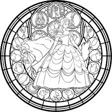 Small Picture Belle Stained Glass Vector coloring page by Akili Amethyst on