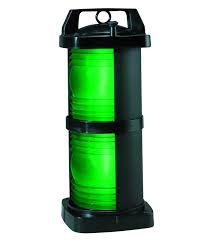perko double lens navigation light stern light black poly double lens navigation light green side light 1364 black plastic