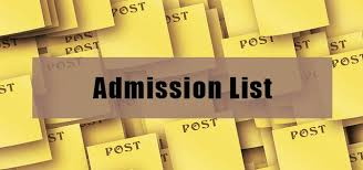diploma and top up admission lists out institute of  admission list