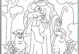 The Lord Is My Shepherd Coloring Page The Good Shepherd Coloring