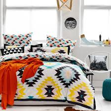 A Fun And Modern Interpretation Of Traditional Aztec Patterns, The Arizona  Quilt Cover Is A